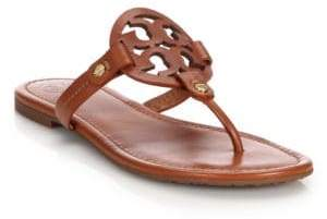 Tory Burch Miller Leather Logo Thong Sandals