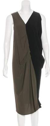 Zero Maria Cornejo Draped Colorblock Dress w/ Tags