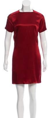 Stella McCartney Short Sleeve Mini Dress Red Short Sleeve Mini Dress