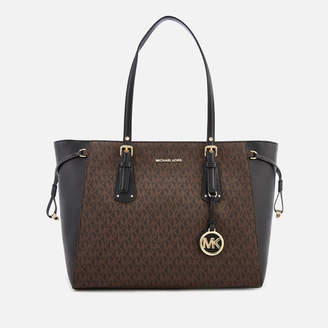 MICHAEL Michael Kors Women's Voyager Tote Bag - Brown/Black