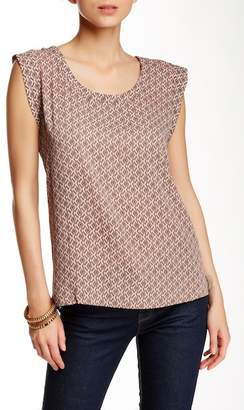 Pleione Cap Sleeve Pleat Back Blouse $64 thestylecure.com