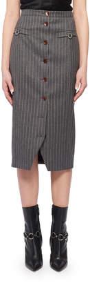 Altuzarra Pinstriped Button-Front Skirt
