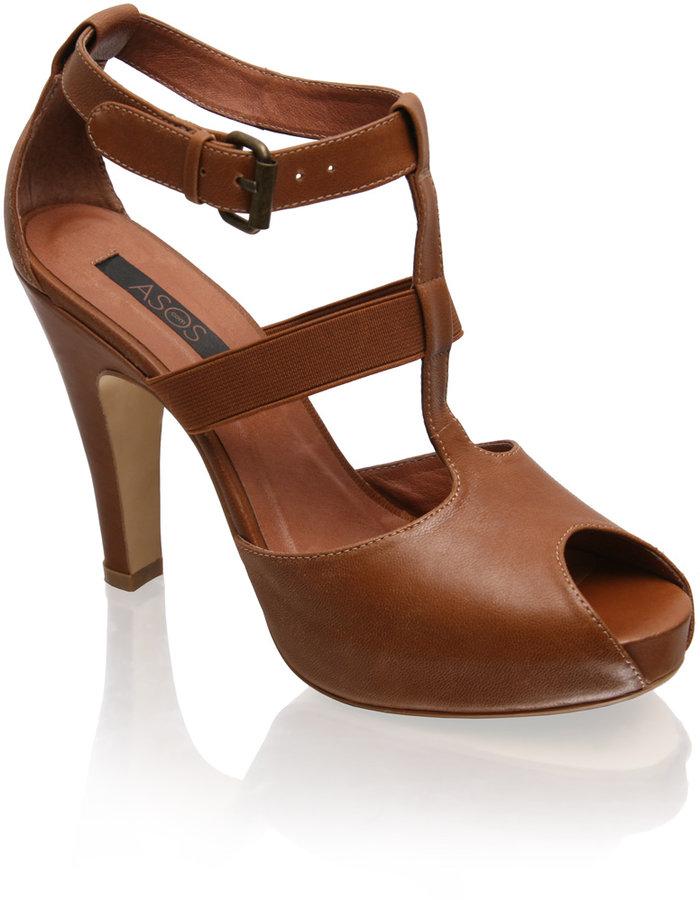 ASOS Leather Elastic Strapped Gladiator Platform Sandals