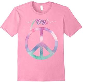 Peach Sign T Shirt 60's 70's Tie Dye Hippie Costume