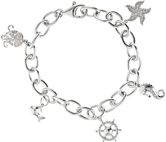 Diamond Charm Bracelet, Sterling, 1/5cttw by Affinity
