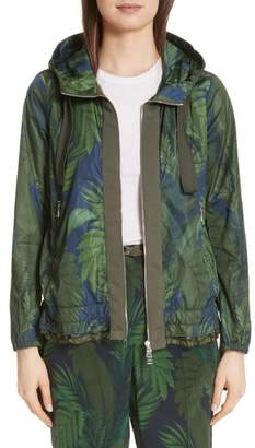 Moncler Morion Print Hooded Raincoat