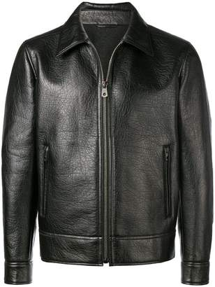 Salvatore Ferragamo zipped leather jacket