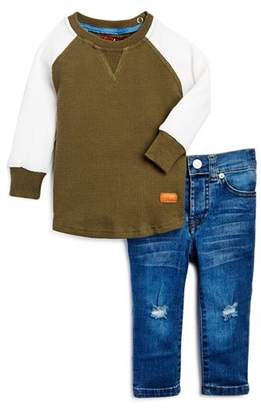 7 For All Mankind Boys' Thermal Shirt & Skinny Jeans Set - Baby