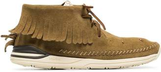 Visvim camel maliseet shaman suede leather sneakers