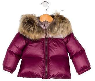 Fendi Girls' Down Fur-Trimmed Jacket