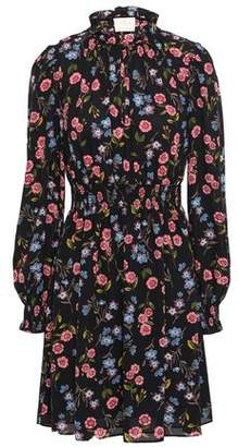 Kate Spade Floral-print Crepe Mini Dress