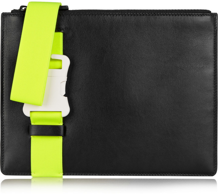 Christopher Kane Buckled leather clutch