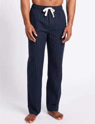 Marks and Spencer Big & Tall Pure Cotton Long Pyjama Bottoms