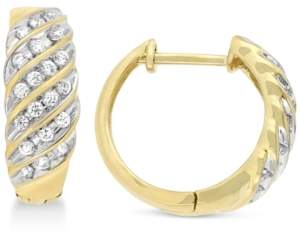 Chanel Wrapped In Love Wrapped in Love Diamond Hoop Earrings (1/2 ct. t.w.) in 10k Gold, Created for Macy's
