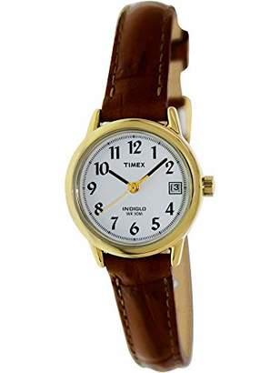 Timex Women's T2J761 Indiglo Leather Strap Watch