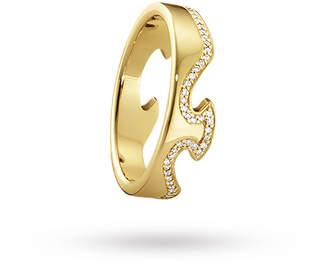 Georg Jensen 18ct White Gold Fusion End Diamond Set Ring - Ring Size P.5