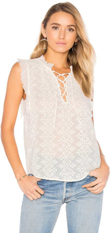 Rebecca TaylorRebecca Taylor Sleeveless Florence Embroidered Top
