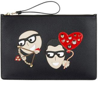 Dolce & Gabbana Leather Family Pouch