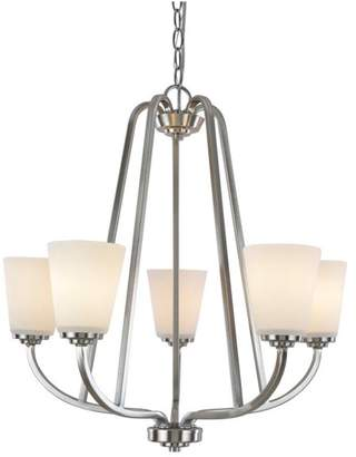 Hudson Artcraft Lighting 5 Light Brushed Nickel Chandelier