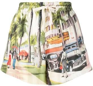 Monse street scene shorts