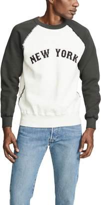 Velva Sheen NY Two Tone Raglan Sweatshirt