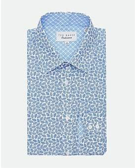 Ted Baker L/S Cotton Leaf Print S/Cuff Shirt