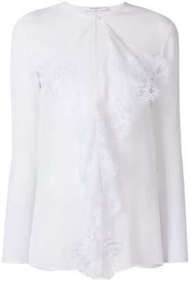 Givenchy lace trim blouse