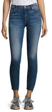 7 For All Mankind Step Hem Skinny Ankle Jeans $199 thestylecure.com