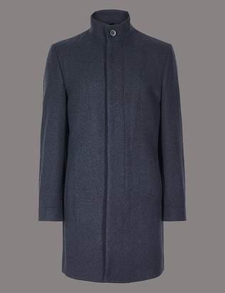 Marks and Spencer Wool Blend Funnel Neck Coat