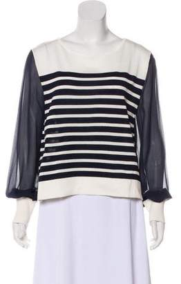 Alberta Ferretti Striped Long Sleeve Top