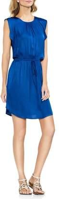 Vince Camuto Tie Waist Rumple Mini Dress