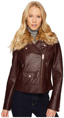 Andrew Marc Beverly 20 Faux Bubble Leather Jacket Women's Coat