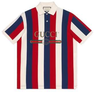 Gucci logo baiadera polo