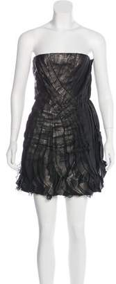 Valentino Leather Strapless Dress