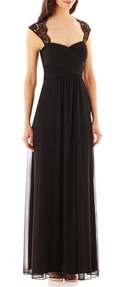 Scarlett Sleeveless Lace-Shoulder Formal Gown $110 thestylecure.com