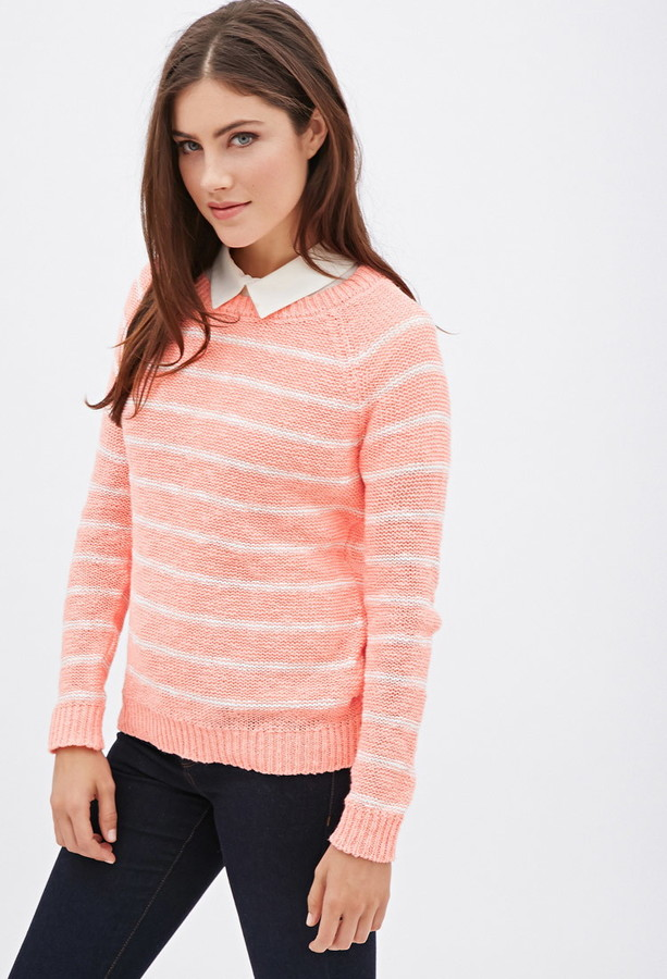 Forever 21 Cozy Day Striped Sweater