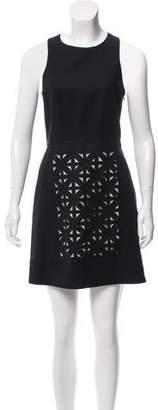 Tibi Laser Cut-Accented Mini Dress