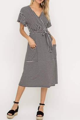 Lush Clothing Striped Wrap Dress