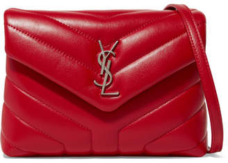 Saint Laurent Loulou Quilted Leather Shoulder Bag - Red