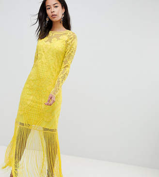 Asos (エイソス) - ASOS Tall ASOS DESIGN Tall embroidered fringe maxi