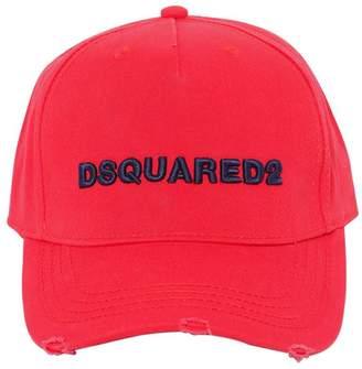 DSQUARED2 Logo Embroidered Gabardine Baseball Hat