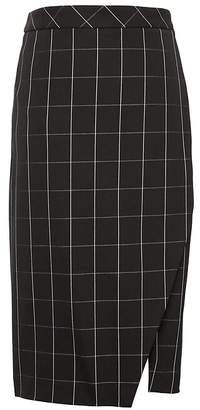 Banana Republic Petite Bi-Stretch Wrap-Front Pencil Skirt