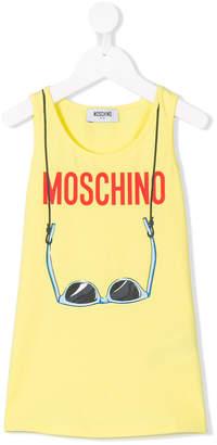 Moschino Kids sunglasses print tank top