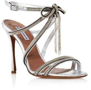 Tabitha Simmons Women's Iceley Rhinestone Bow High-Heel Sandals
