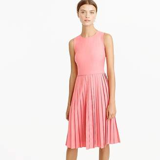 J.Crew Pleated A-line dress in Super 120s wool