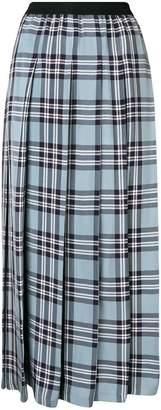 Sara Lanzi check pleated skirt
