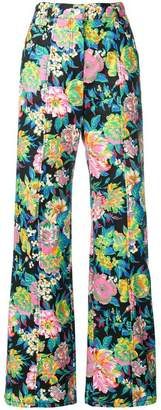 MSGM wide leg floral trousers