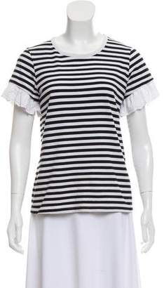 Sonia Rykiel Sonia by Short Sleeve Striped Top