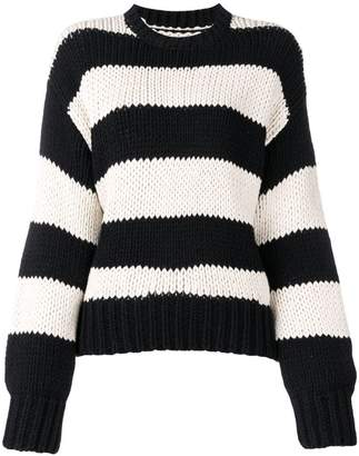 RtA striped crewneck sweatshirt