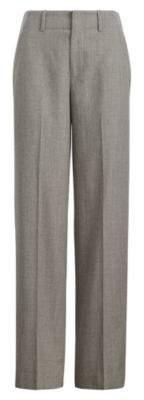 Ralph Lauren Wool Flannel High-Rise Pant Fawn Grey 2